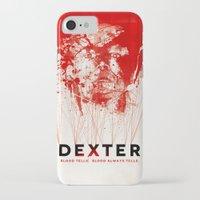 dexter iPhone & iPod Cases featuring DEXTER by Michael Scott Murphy