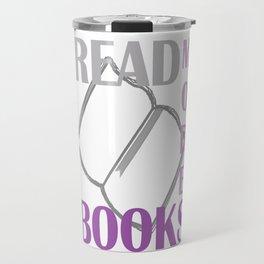 READ MORE BOOKS in purple Travel Mug