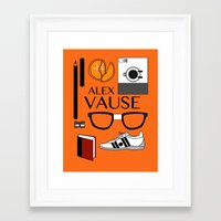 alex vause Framed Art Prints featuring Alex Vause Poster by Zharaoh