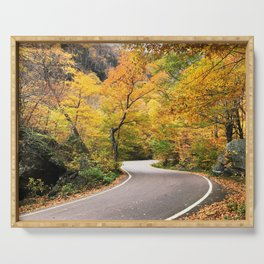 Winding Autumn Road Serving Tray