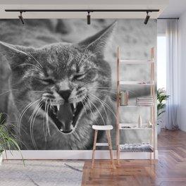 Laughing Cat Wall Mural