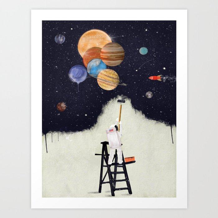 galaxy graffiti Art Print