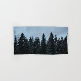 Pine trees and snow Hand & Bath Towel