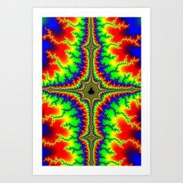 Psychedelic Mandelcross Trippy Fractal Art Print Art Print