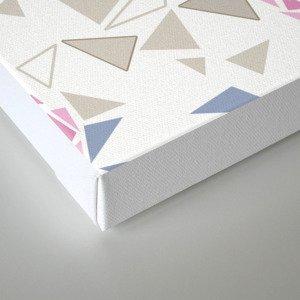 Modern . Geometric pattern . Roses . 1 Canvas Print