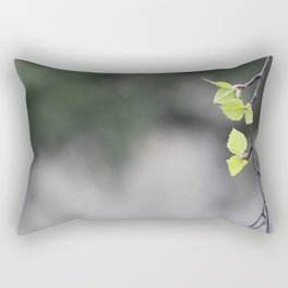 Birch Leaves and Branch 2 Rectangular Pillow