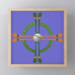 Hurley and Ball Celtic Cross Design - Solid colour background Framed Mini Art Print