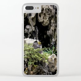 Charming Miniature Garden at the the Ngoc Son Temple at Hoan Kiem Lake in Hanoi, Vietnam Clear iPhone Case