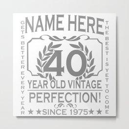 40th Birthday Metal Print