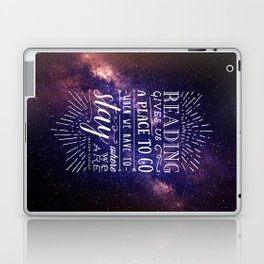 Reading gives us a place to go Laptop & iPad Skin