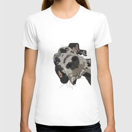 Great Dane dog in your face T-shirt