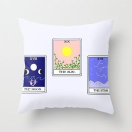 Trio of Tarot Throw Pillow
