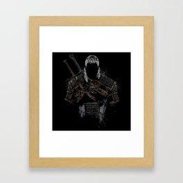 Geralt of Rivia - The Witcher Framed Art Print
