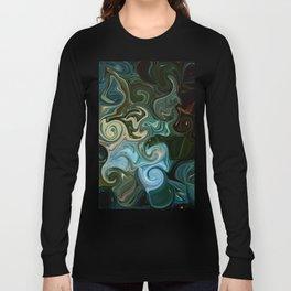 Goddess of Nature Abstract Long Sleeve T-shirt