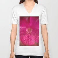weed V-neck T-shirts featuring Weed Grunge by Sandra Cockayne Photography