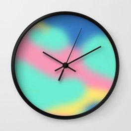 Abstract Pastel Wall Clock