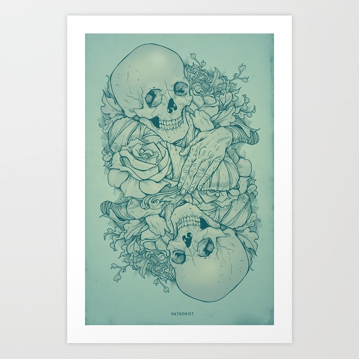 All the pretty flowers art print by hatrobot society6 all the pretty flowers art print mightylinksfo