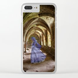 Blue Spectre in the Abbey Clear iPhone Case