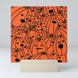 Halloween Pumpkin gathering  Mini Art Print