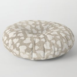 Canvas Design with Heart Shapes and a Great Texture Floor Pillow