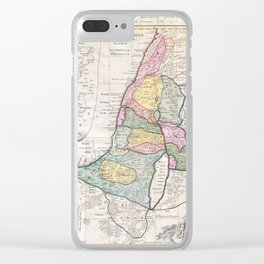 Old 1750 Historic State of Palestine Map Clear iPhone Case