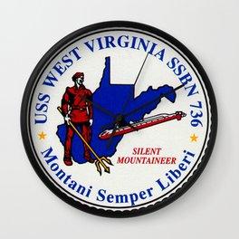 USS WEST VIRGINIA (SSBN-736) PATCH Wall Clock