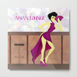 Asian Lounge Metal Print