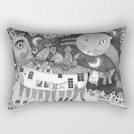Cats at Night Rectangular Pillow