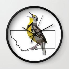 Montana – Western Meadowlark Wall Clock