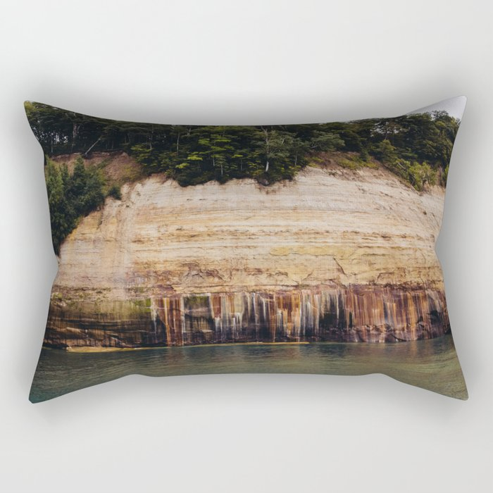 Pictured Rocks III Rectangular Pillow