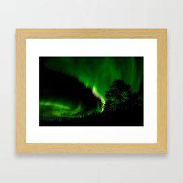Aurora Borealis, Northern Sweden Framed Art Print