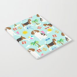 Beagles beagle pattern beach classic socal dog breed pattern palm trees tropical Notebook