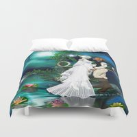 wedding Duvet Covers featuring Wedding Day by Simone Gatterwe
