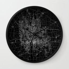 Columbus map ohio Wall Clock