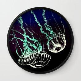 Jellyfish Etching Wall Clock