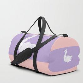 White origami swan Duffle Bag