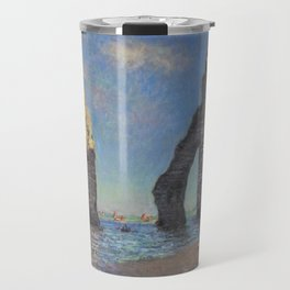 Claude Monet - The Cliffs at Etretat Travel Mug