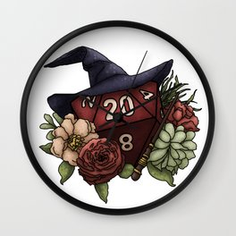 Wizard Class D20 - Tabletop Gaming Dice Wall Clock