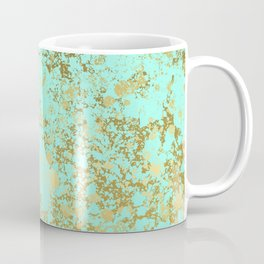 Mint and Gold Patina Design Coffee Mug