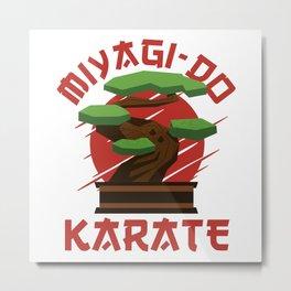 Bonsai Tree Miyagi-Do Karate Zen Gift Metal Print