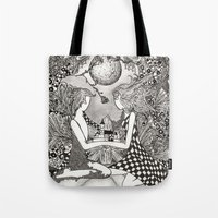 bond Tote Bags featuring Bond by Anca Chelaru