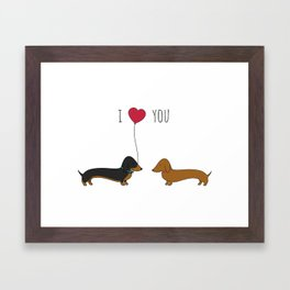 DACHSHUND LOVE Framed Art Print