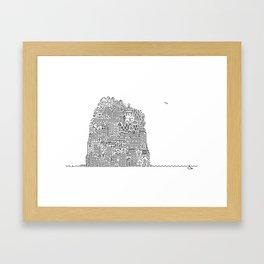 ON AN ISLAND Framed Art Print