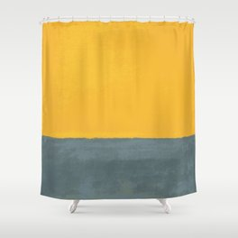 Plain color Blue and yellow art print Shower Curtain