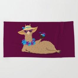 Bahama Llama Beach Towel