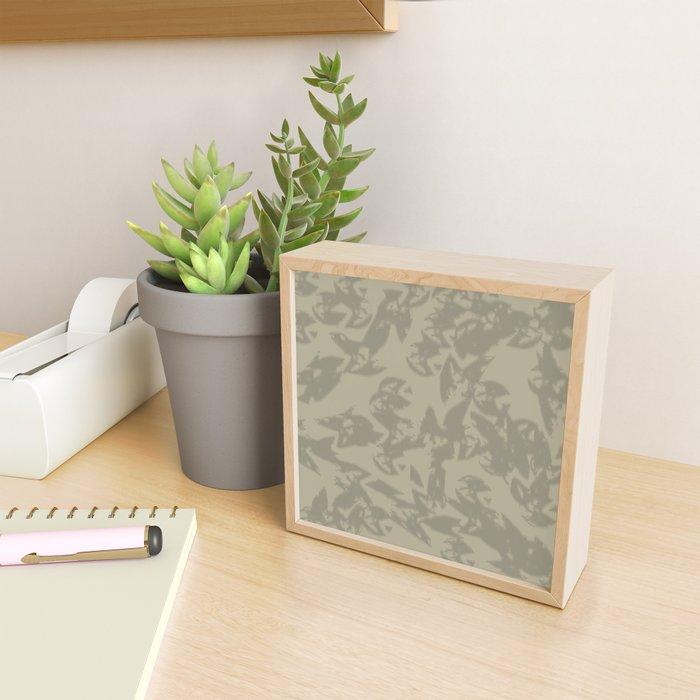 Eagle Taupe Gray Framed Mini Art Print