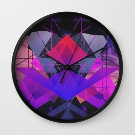 Geometric and colorful Wall Clock