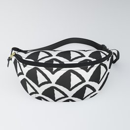 Classic Hollywood Regency Pyramid Pattern 232 Black and White Fanny Pack
