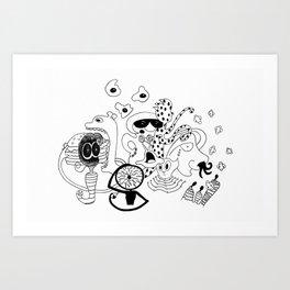 Freak Party Version 1 Art Print