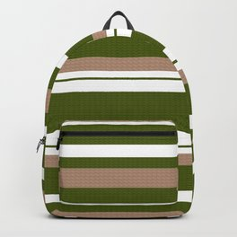 Classic-Beige-Black-Green-White Collection Backpack
